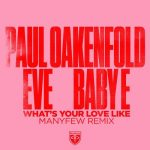 Paul Oakenfold, Eve, Baby E – What's Your Love Like – ManyFew Remix